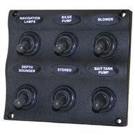 Seasense Marine Splash-Proof 6-Gang Switch Panel