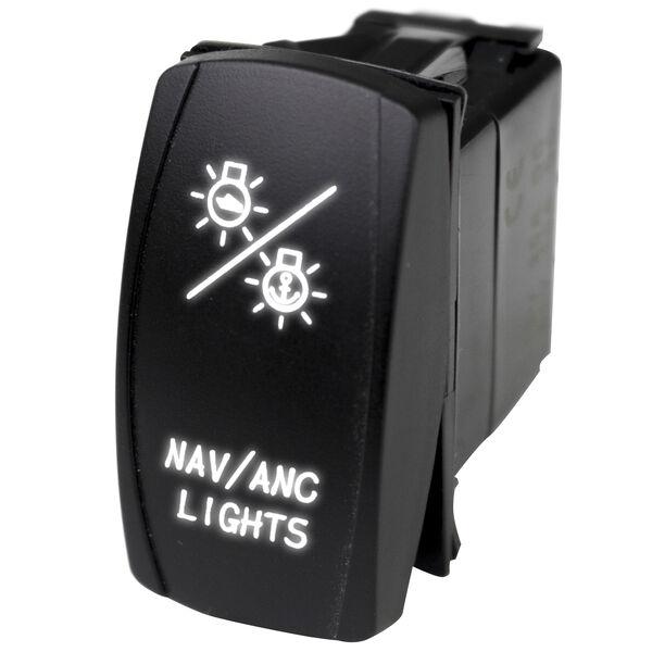 Race Sport LED Rocker Switch with White LED Radiance – NAV Lights