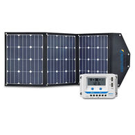 ACOPOWER LTK 120W Foldable Solar Panel Suitcase with 10A Charge Controller