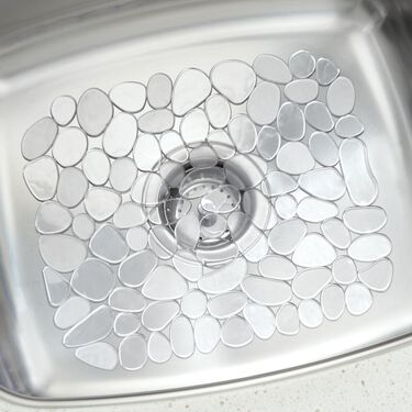 "iDesign Pebblz Sink Mat, 10-3/4"" x 12-1/2"" Graphite"