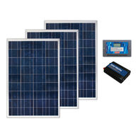 Coleman 300 Watt Crystalline Solar Panel Kit with 30 Amp Charge Controller and 300 Watt Inverter