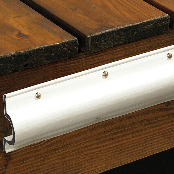 Dock Pro Vinyl Dock Edging White C Shape 10' Coil