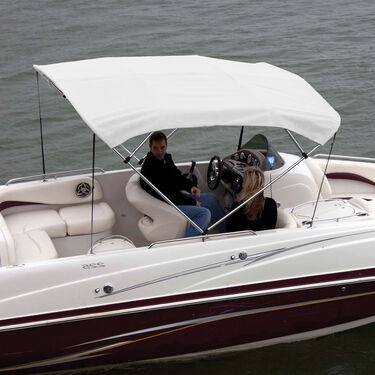 """Shademate Bimini Top Polyester Fabric and Boot Only, 4-Bow 8'L, 42""""H, 61""""-66""""W"""