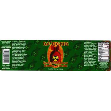 Original Juan Da' Bomb Green Habanero Salsa Verde 15.5oz