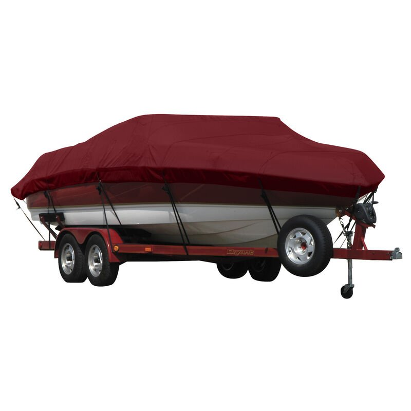 Exact Fit Covermate Sunbrella Boat Cover for Xpress (Aluma-Weld) H-56   H-56 Dual Console W/Port Mtr Guide Troll Mtr O/B image number 3
