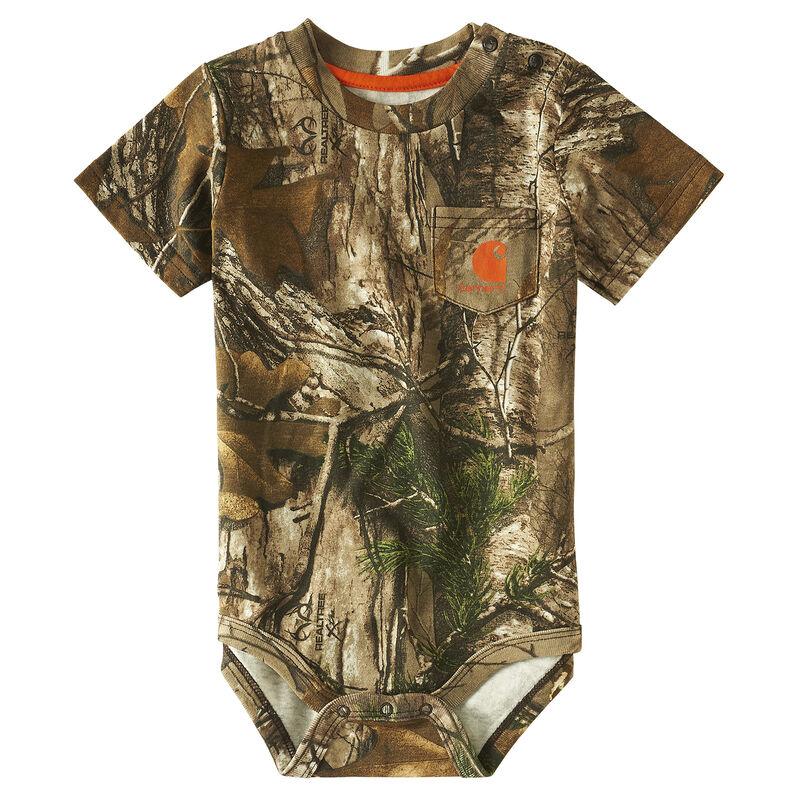 Carhartt Infant Boys' Camo Pocket Bodysuit image number 1