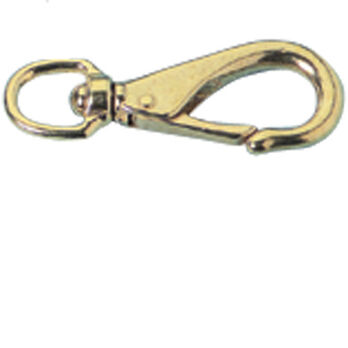 "Polished Brass Swivel Snap, 3-3/4""L"