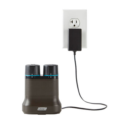 Coleman OneSource Rechargeable Lithium-Ion Battery (Pack of 2) & 2-Port Quick-Charging Station