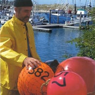 """Commercial Fishing Net Buoy, Rocket Red (12"""" x 16"""")"""