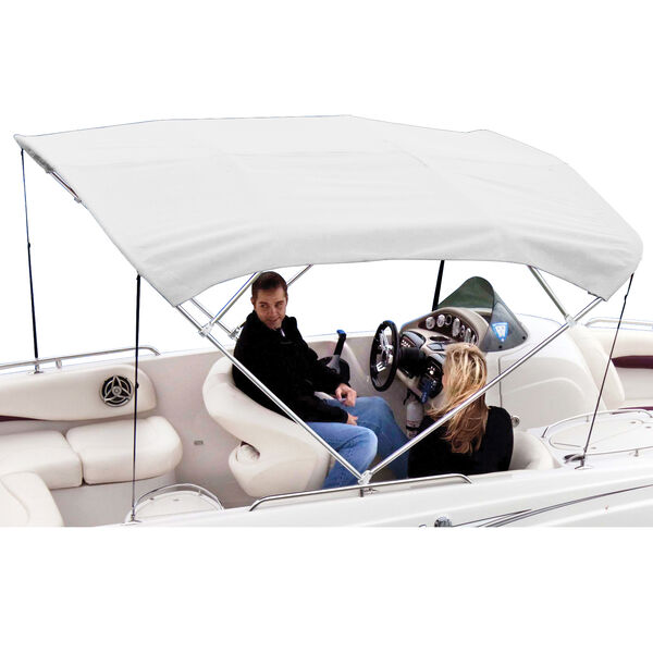Shademate White Vinyl Stainless 4-Bow Bimini Top 8'L x 42''H 73''-78'' Wide