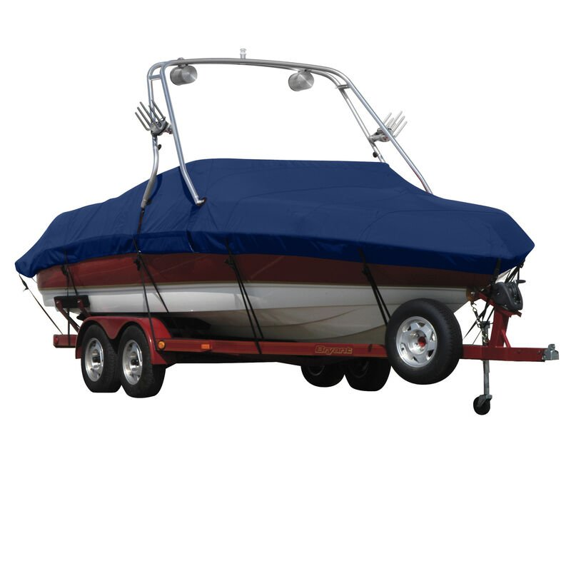 Exact Fit Covermate Sunbrella Boat Cover For MALIBU WAKESETTER 21 VLX w/TITAN TOWER CUTOUTS Doesn t COVER PLATFORM image number 12