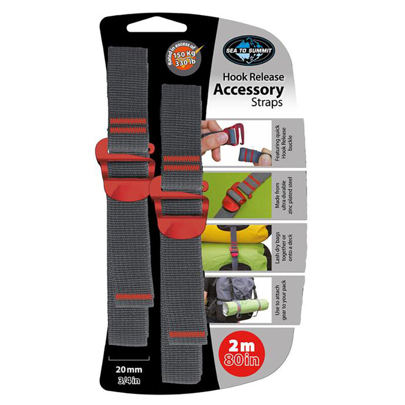 """Sea To Summit Accessory Straps with Hook Release, 80"""" image number 1"""