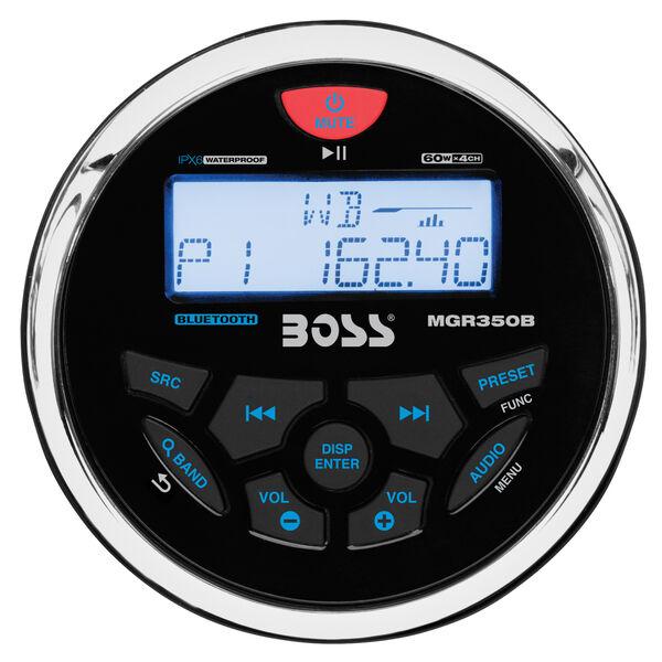 Boss Audio MGR350B Bluetooth Marine Gauge Radio