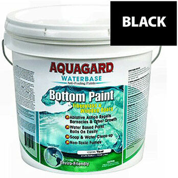 Aquaguard Waterbase Anti-Fouling Bottom Paint, 2 Gallons, Black