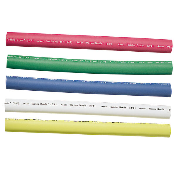 "Ancor Adhesive-Lined Heat Shrink Tubing Kit, 12-8 AWG, 3/8"" dia., 6"" L, Assorted"