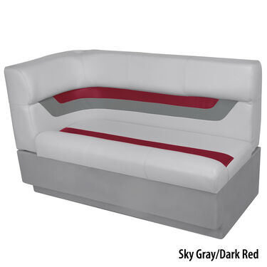 Toonmate Designer Pontoon Right-Side Corner Couch, Sky Gray