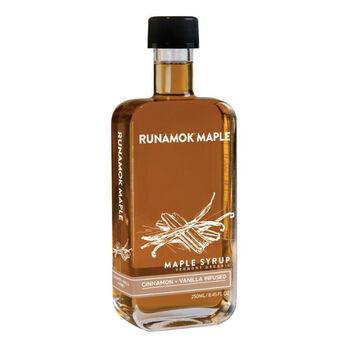 RUNAMOK Cinnamon and Vanilla Infused Organic Maple Syrup 250ml