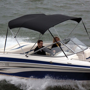 """Shademate Polyester 3-Bow Bimini Top, 5'L x 32""""H, 61""""-66"""" Wide"""