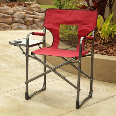 Mesh Back Chair with Table