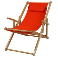 Canvas Patio Sling Chair, Orange