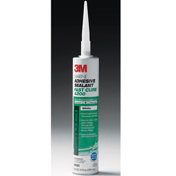 3M Marine Adhesive/Sealant Fast Cure 4200, 1/10 gal. cartridge