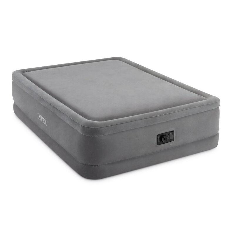 Intex Dura-Beam Foam-Top Airbed, Built-In Pump, Queen image number 1