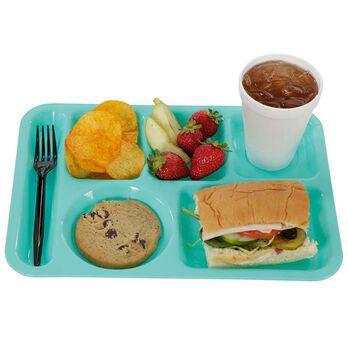 Retro Cafeteria Tray, Turquoise