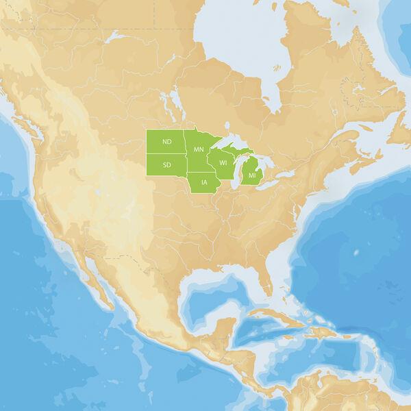 Navionics Hot Maps Platinum Cartography, North
