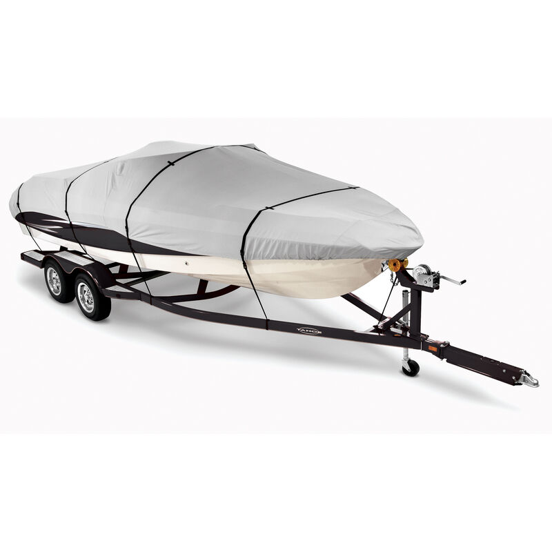 Imperial Pro Euro-Style V-Hull Cuddy Cabin I/O Boat Cover 23'5'' max length GRAY image number 1