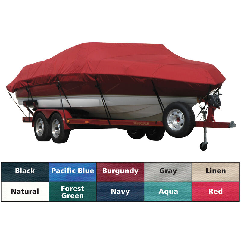 Exact Fit Covermate Sunbrella Boat Cover For CORRECT CRAFT SKI NAUTIQUE COVERS PLATFORM w/BOW CUTOUT FOR TRAILER STOP image number 1
