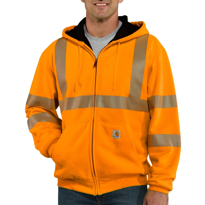 Carhartt Men's High-Visibility Zip-Front Class 3 Thermal-Lined Sweatshirt image number 1