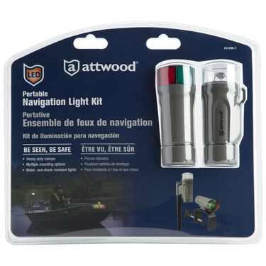 Attwood Clamp-On LED Bow And Stern Light Kit Gray