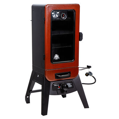 Pit Boss 3-Series Gas Vertical Smoker, Red Hammertone