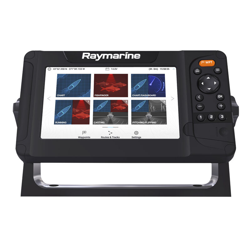 Raymarine Element 7 HV-100 GPS Fishfinder w/Navionics Nav+ US & Canada Charts image number 4