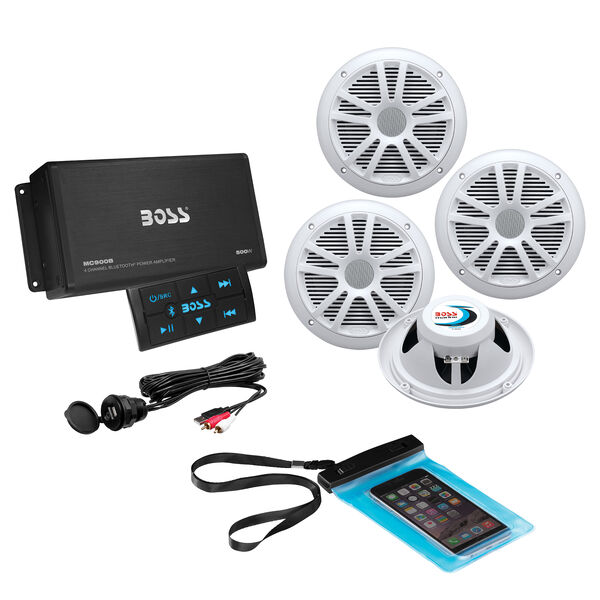 Boss Audio ASK904B.64 Bluetooth Amplifier With Four Speakers