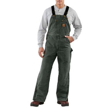 Carhartt Men's Sandstone Duck Quilt-Lined Bib Overall