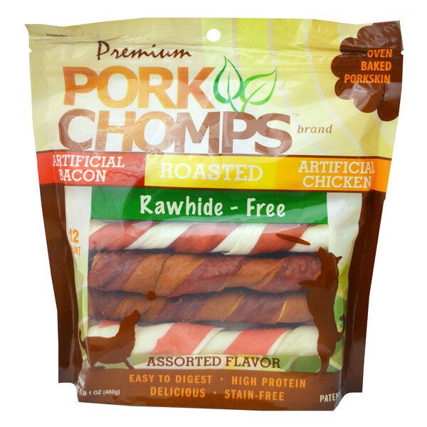 Scott Pet Pork Chomps Rawhide Twists, 12 ct