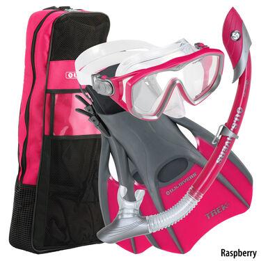 U.S. Divers Diva Ladies Travel Snorkeling Set