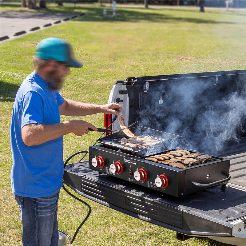 Royal Gourmet Portable 4-Burner Gas Griddle and Grill Combo image number 7