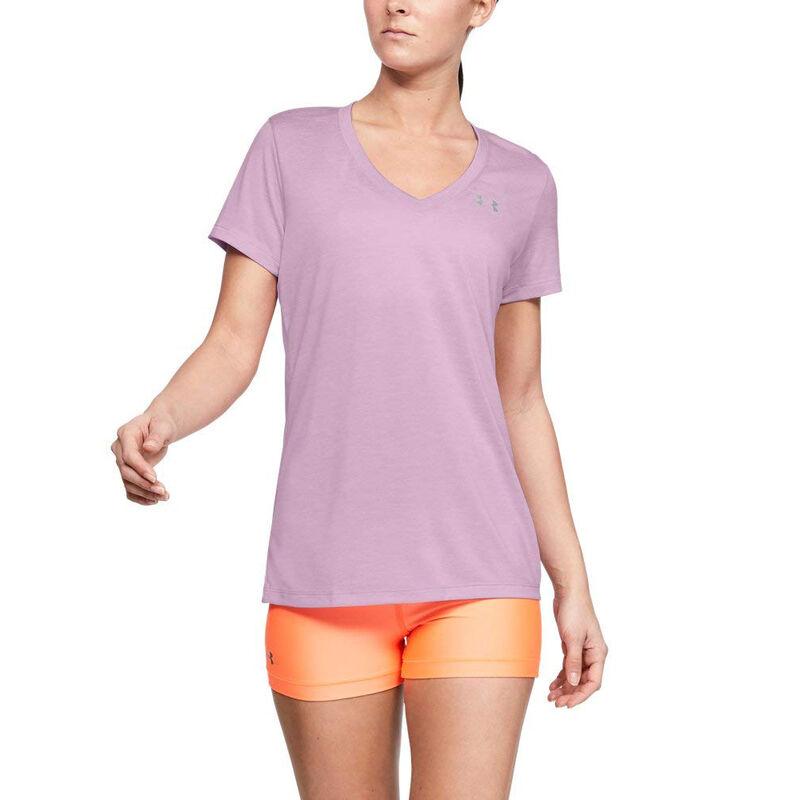 Under Armour Women's UA Tech Twist Short-Sleeve V-Neck Tee image number 9