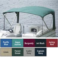 "Buggy Style Pontoon Bimini Top Sunbrella Acrylic 1-1/4"" Standard Frame 96""-102""W"