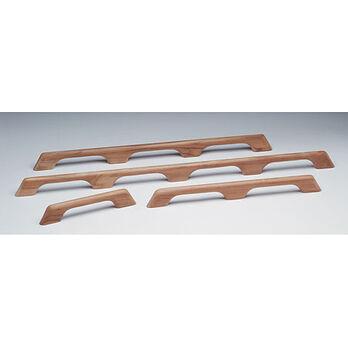 """SeaForce Teak Six-Loop Handrail, 63""""L x 2-3/8""""H x 1""""D"""