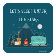 """Let's Sleep Under The Stars"" Drink Coaster, each"