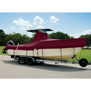 """Taylor Made Cover For Boats With Fixed T-Tops and Bow Rails, 24'4"""" x 102"""""""