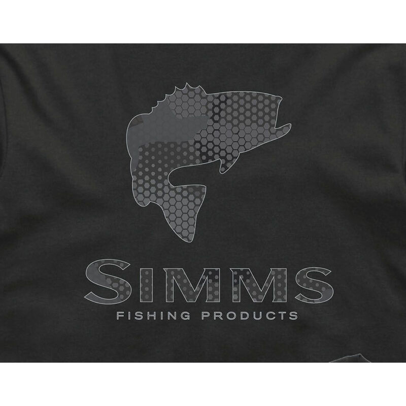 Simms Men's Bass Hex Flo Camo Short-Sleeve Tee image number 1