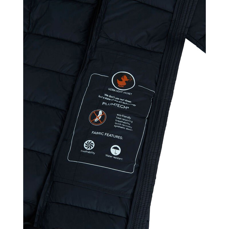 Save The Duck Women's Giga Long Quilted Winter Coat image number 7