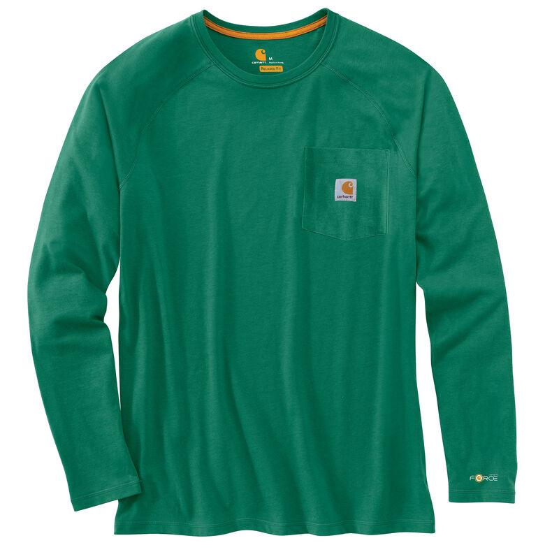 Carhartt Men's Force Cotton Delmont Long-Sleeve T-Shirt image number 2