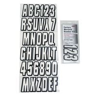 Hardline 320 Series Clear/Black Registration Kit, Block Font