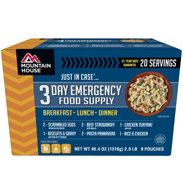 """Mountain House """"Just In Case…"""" 3-Day Emergency Food Supply"""