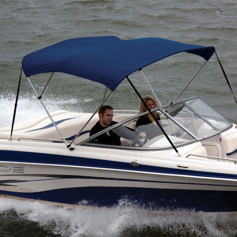 """Shademate Polyester 3-Bow Bimini Top, 5'L x 32""""H, 54""""-60"""" Wide image number 3"""